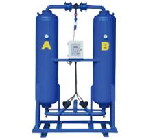 Secador de ar comprimido por adsorção com regeneração sem aquecimento